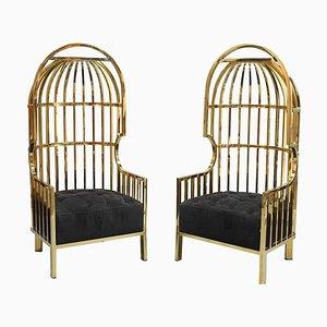 Bora Bora Birdcage Chairs in Gold by Eichholtz, Set of 2