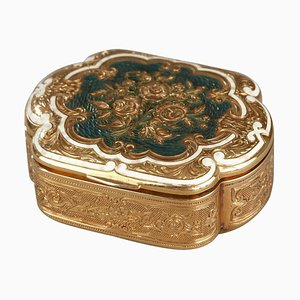 Gold und Emaille Box, spätes 19. Jahrhundert