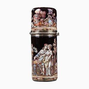 Versilberte und versilberte Parfümflasche aus Frankreich, spätes 19. Jh