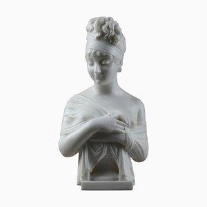 Nach Joseph Chinard, Juliette Récamier, Carrara Marmor Büste
