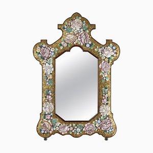 Specchio in micromosaico, fine XIX secolo