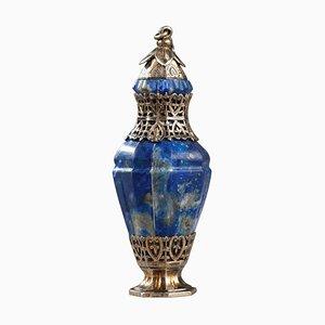 Silber und Lapislazuli Flasche, 19. Jh
