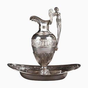 Empire Silver Ewer with Bowl by Edme Gelez, Set of 2