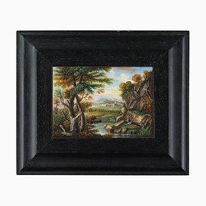 Micromosaic Plaque with River Landscape, 1820s