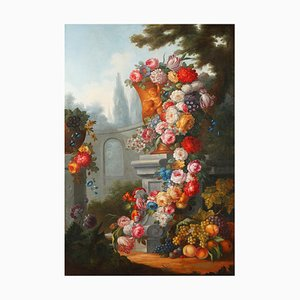 After Gaspare Lopez, Still Life, Mid-19th Century, Large Painting