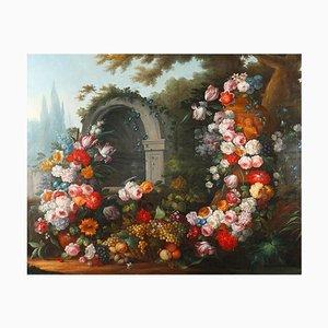 After Gaspare Lopez, Natura morta con fiori, metà XIX secolo, grande dipinto