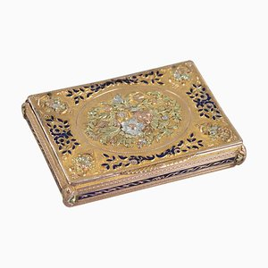 Frühes 19. Jh. Box aus Gold und Emaille, Schweiz
