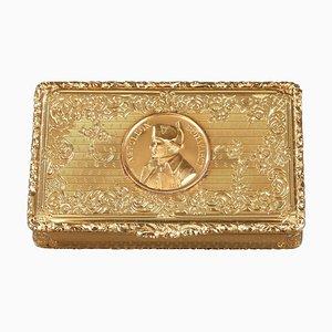 Mid-19th Century Snuff Box with Napoleon Bonaparte Medallion