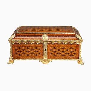 19th Century Louis XVI Style Marquetry Jewelry Box