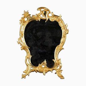Louis XV Tischspiegel aus vergoldeter Bronze