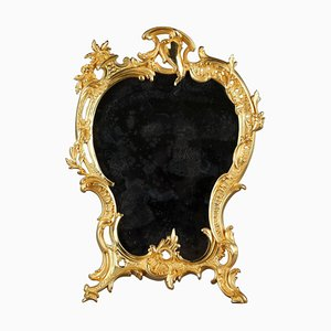 Miroir de Table Style Louis XV en Bronze Doré