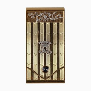 Gold Case with Diamonds and Sapphire, Early 20th Century