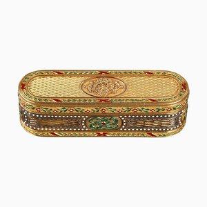 18th Century Gold and Enamel Snuff-Box