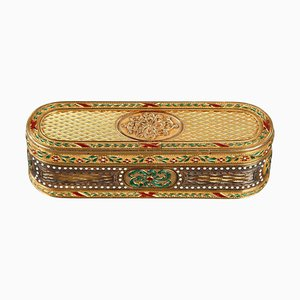 Snuff-Box aus Gold und Emaille, 18. Jh