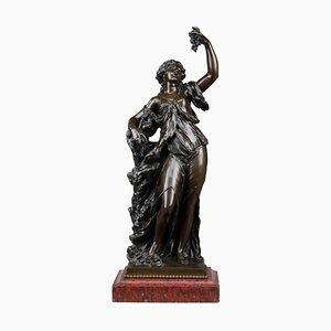 Estatua de bronce de Bacchante, siglo XIX