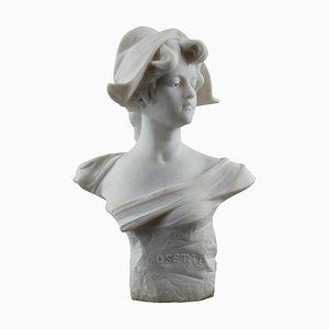 Busto de mármol de Cosette con gorro frigio de Marianne