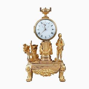 Small Late 18th Century Louis XVI Clock Depicting Gardener