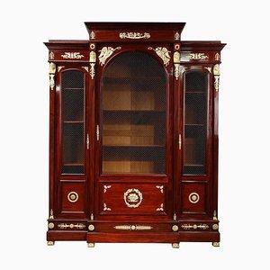 Empire Style Mahogany Bookcase, 1860s