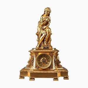 Figürliche Kaminuhr von Pierre Le Masson, Paris, 19. Jh