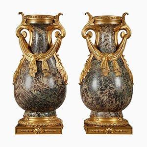 19th Century Russian Jasper Vases, Set of 2