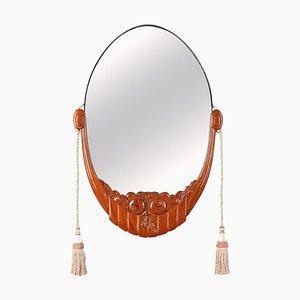 Art Deco Glass Mirror by Maurice Dufrêne