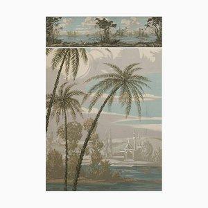 Dipinto panoramico grande del XIX secolo in stile romantico