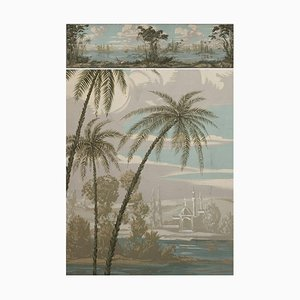 Large 19th Century Panoramic Painting in Romantic Style