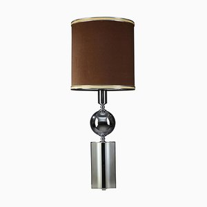 20th Century Chrome-Plated Metal Lamp in Charles House Style
