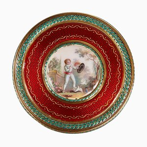 Round Bonbonniere in Gold and Enamel, 1779