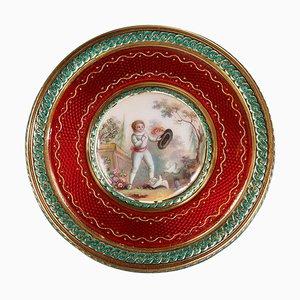 Runde Bonboniere in Gold und Emaille, 1779