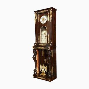 Reloj de caja alta estilo imperio de finales del siglo XIX