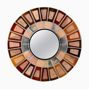 Runder Keramik Spiegel von Roger Capron