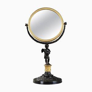 19th Century Charles X Gilt and Patinated Bronze Pivoting Mirror