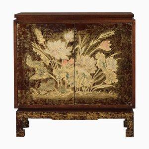 Mobiletto Art Déco in legno laccato e inciso di Pierre Bobot