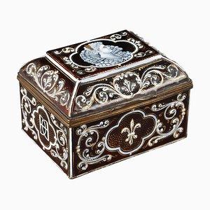 Spätes 19. Jh. Limoges Emaille Aufbewahrungsbox