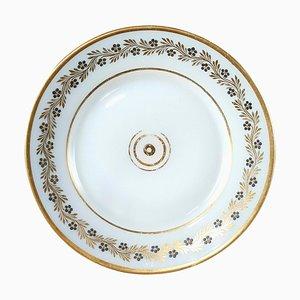 Charles X White Opaline Plate by Jean-Baptiste Desvignes