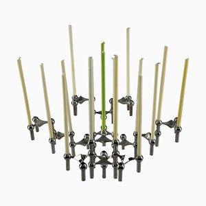 Modularer Kerzenständer und Jardinière von Nagel, 15er Set