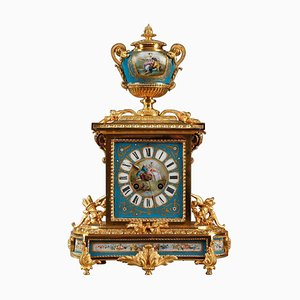 Ormolu and Porcelain Table Clock with Galant Scenes