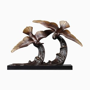 Bronze Flying Gulls Figure by Enrique Molins
