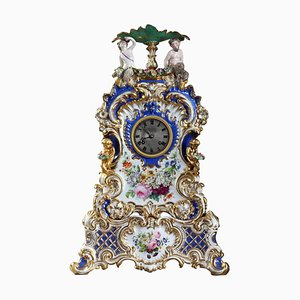 Porcelain Mantle Clock in the Style of Jacob Petit