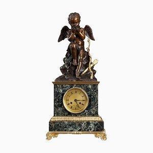 Reloj de lectura Cupido de mármol de Ledure and Hémon, principios del siglo XIX