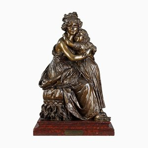 Bronze Gruppe After the Self-Portrait with Her Daughter von Élisabeth Vigée Le Brun