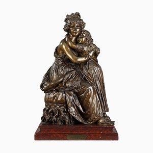Grupo de bronce después del autorretrato con su hija de Élisabeth Vigée Le Brun