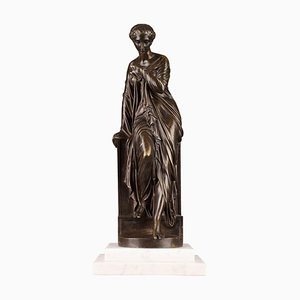 Late 19th Century Bronze Suzanne Statue by Eugene-Antoine Aizelin