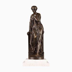Spätes 19. Jh. Suzanne Bronzestatue von Eugene-Antoine Aizelin