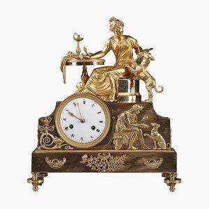 19th-Century Empire Ormolu Mantel Clock