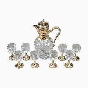 Kristallglas Service von Maison Boin-Taburet, 9er Set