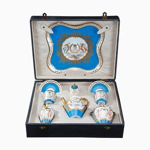 Tea Service Set from Sevres and Château Des Tuileries, Set of 8