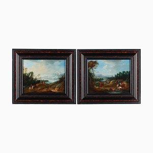 Set of Landscapes Attributed to Elias Martin, Framed