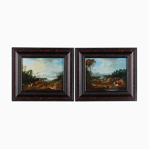 Set von Landschaften, Elias Martin zugeschrieben, gerahmt